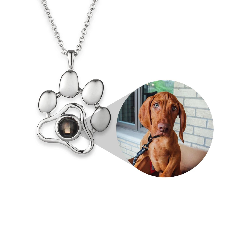 ペット写真投影ネックレス キーホルダー 愛犬愛猫 カスタマイズ オーダーメイド ペンダント 写真入りプレゼント