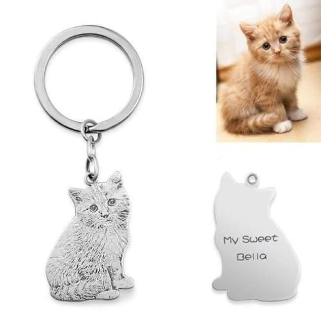 ペット 写真 グッズ キーホルダー オリジナル 手作り 安い 愛犬 猫 写真でオーダーメイドキーチェーン キーホルダー 刻印可能